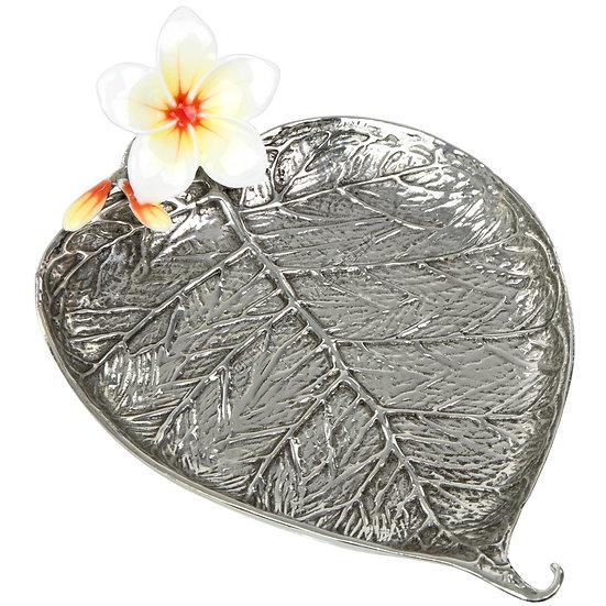 Jewellery Tray - Bo Leaf with Plumeria