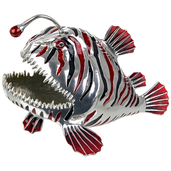 Business Card Holder - Angler Fish, Red