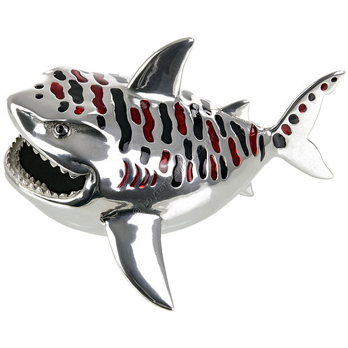 Business Card Holder - Tiger Shark, Red