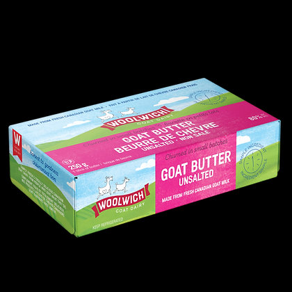 Woolwich Dairy Unsalted Goat Butter 250g