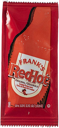 Frank's-Red Hot Sauce. Portion