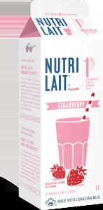 Nutrilait 1% Strawberry partly skimmed milk 1L