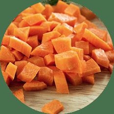 """Carrots Diced 3/8"""" - Grade A"""