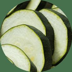 Zucchini Green Crinkle Quarters