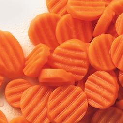 Carrots Sliced - Crinkle - Grade A