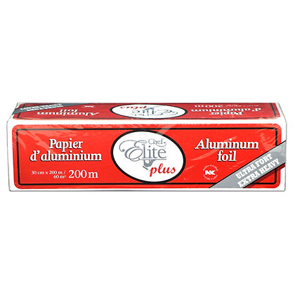 Chef Elite Plus - Aluminum Foil Rolls - 30 cm x 200 m - Heavy Duty