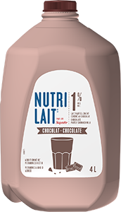 Nutrilait 1% Chocolate partly skimmed milk 4L