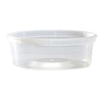 Table Accent-Plastic Container - 8 oz - Polypropylene - Clear