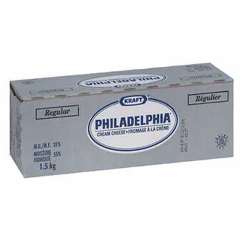 PHILADELPHIA Cream Cheese Plain Brick 1.5kg