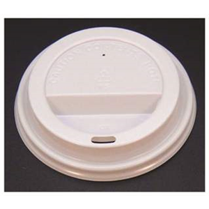 White Dome Lid 80mm