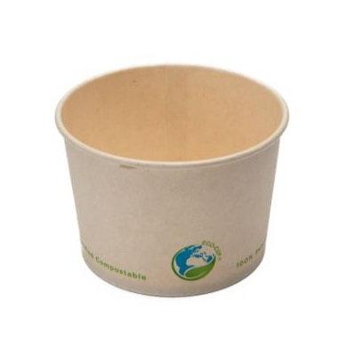 8oz Compostable Soup Cup - Kraft