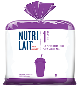 Nutrilait 1% Partly skimmed milk 4L