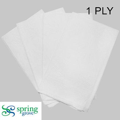 Spring Grove 1PLY Dinner Napkin 1/8 Fold-White