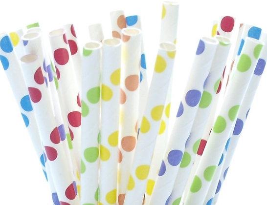 "8"" Jumbo Paper Straw – Dot Mixed"