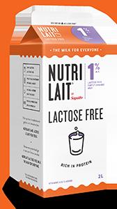 Nutrilait 1% Lactose free partly skimmed milk 2L