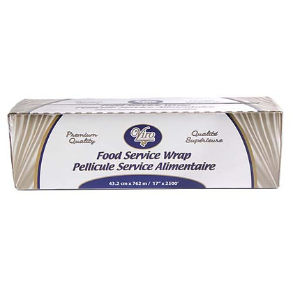 "Viro - PVC Food Wrap - 17"" x 2500' - 39 Gauge - Metal Cutter"