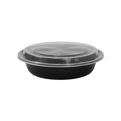 Chef Elite - Plastic Containers with Lids - 22oz - Round
