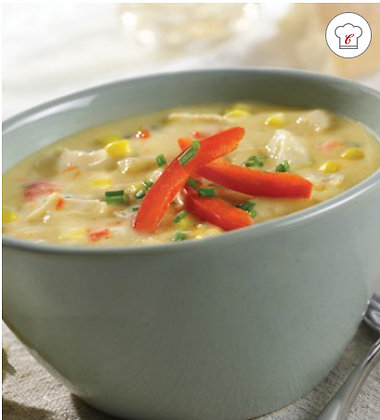 Signature Chicken Corn Chowder With Sweet Peppers