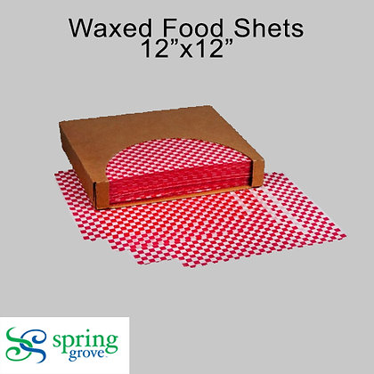 Spring Grove Grease & Moisture Resistant Basket Liner-Red Checker Paper