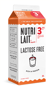Nutrilait Lactose free homogenized milk 2L