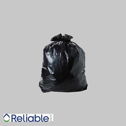 "Reliable Brand™ 42""x48"" X-Strong 1.2mm (56gal.) Trash Bag Black"