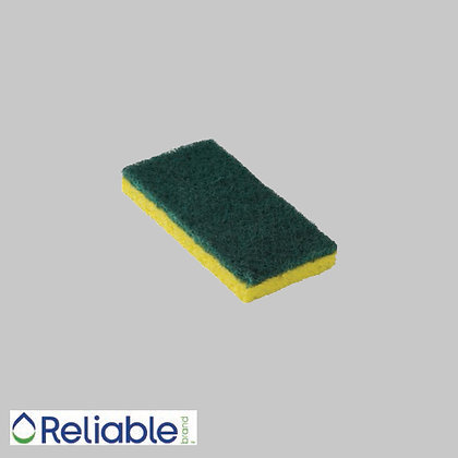 Reliable Brand™ Scrubbing Sponges Medium-Duty, Green/Yellow