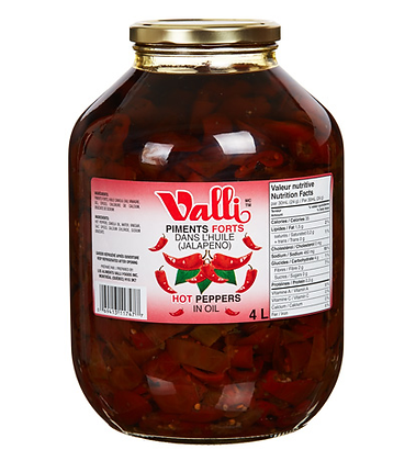 Delice de la Foret Valli Jalapeño hot peppers in oil