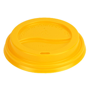 Yellow Dome Lid 90mm
