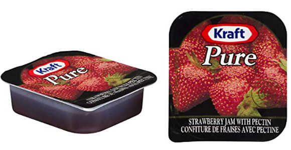 Kraft Pure Strawberry Single Serv Jam 16ml