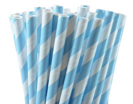 "8"" Jumbo Paper Straw – Blue Stripe"