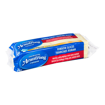 Armstrong Swiss Style Processed Cheese Product Ribbon Slice 2Kg