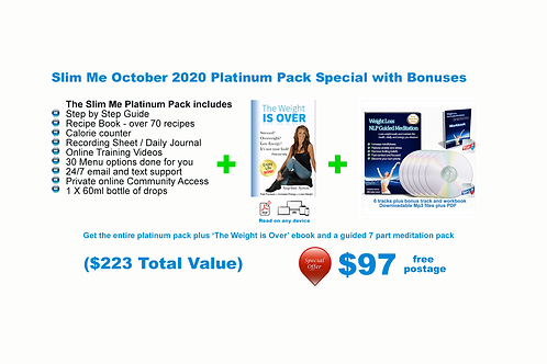 October Special - Slim Me Platinum Pack plus bonuses