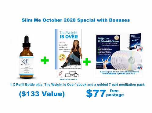 October Special - Single Slim Me Refill Bottle plus bonuses
