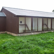 Chalets with outside verandahs