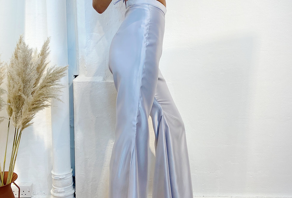 90s Flare Pant - Silver