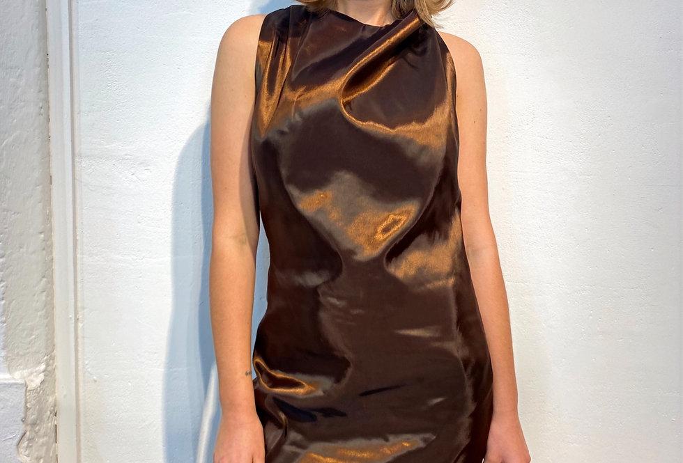 Brown A Line Dress