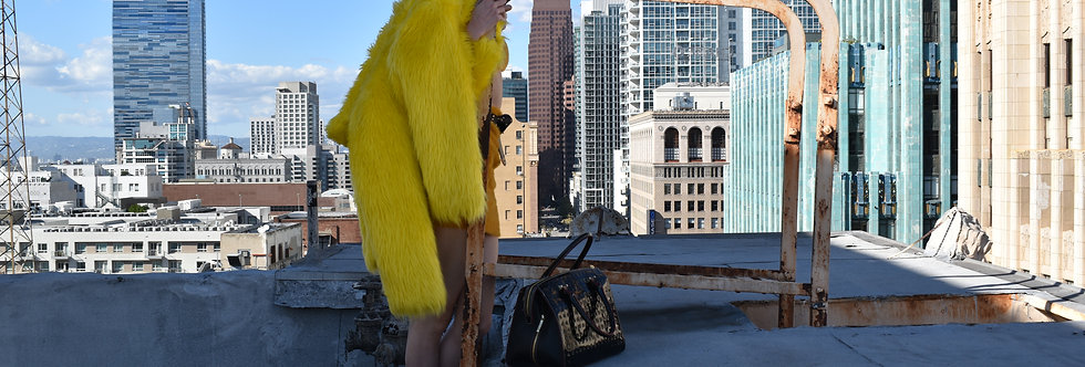 Lemon Drop Fur Coat