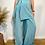 Thumbnail: Tie Side Mini Skirt - Teal Blue