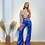 Thumbnail: Mixed Victorian Flare Trousers - PurpleBleu