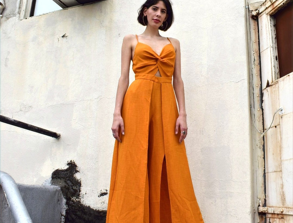 Orange Regina Pantsuit