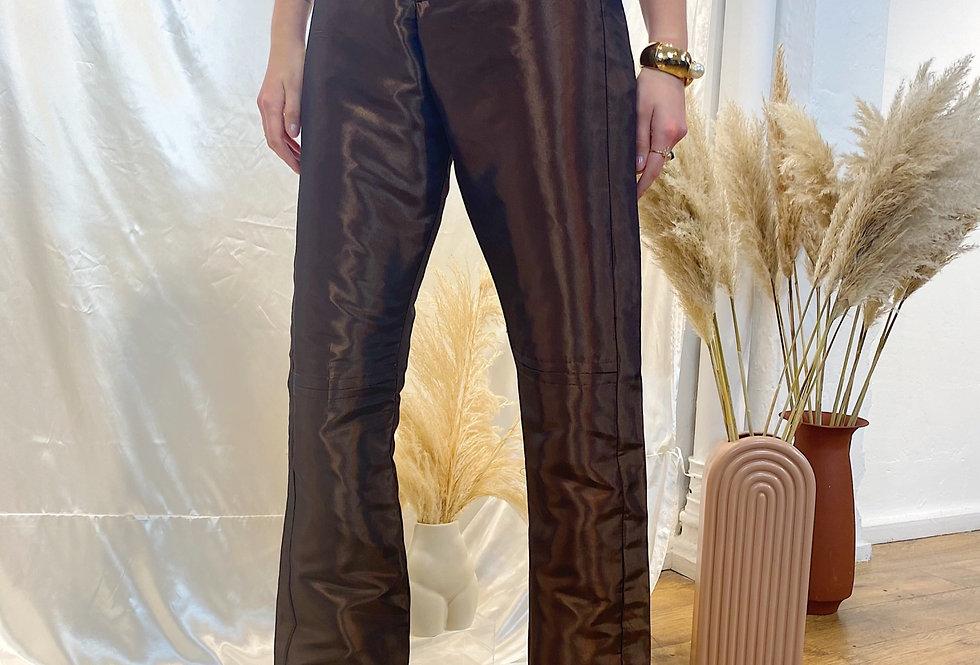 Brown Cigarette Pants