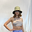 Thumbnail: Silver Two Tie String Halter Neck Crop Top