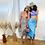 Thumbnail: Tie Me Up Midi Skirt - Baby Blue