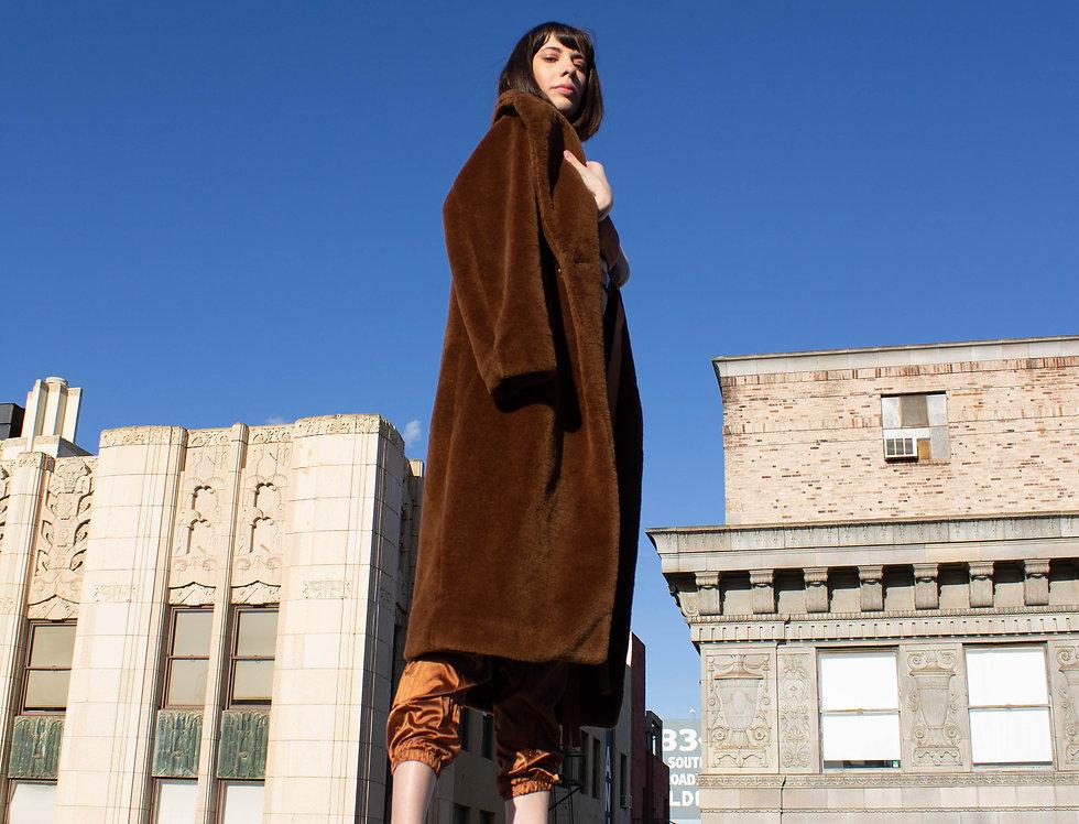 Long Brown Bear Faux Fur