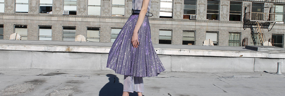 Purple Glitter Skirt