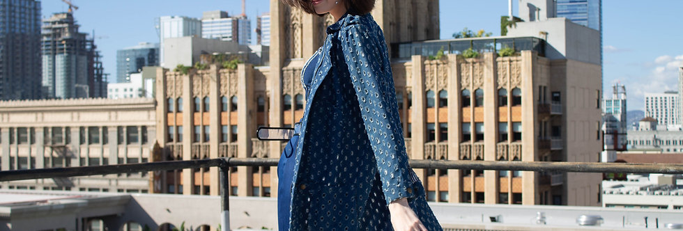 Bad Girl Perforated Denim Coat