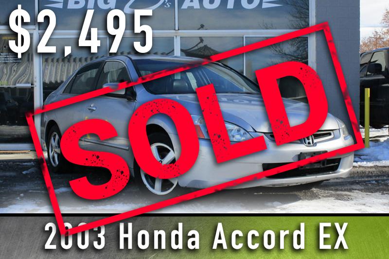2003 Silver Honda Accord Sold
