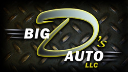 Big D's Auto Business Cards (front)