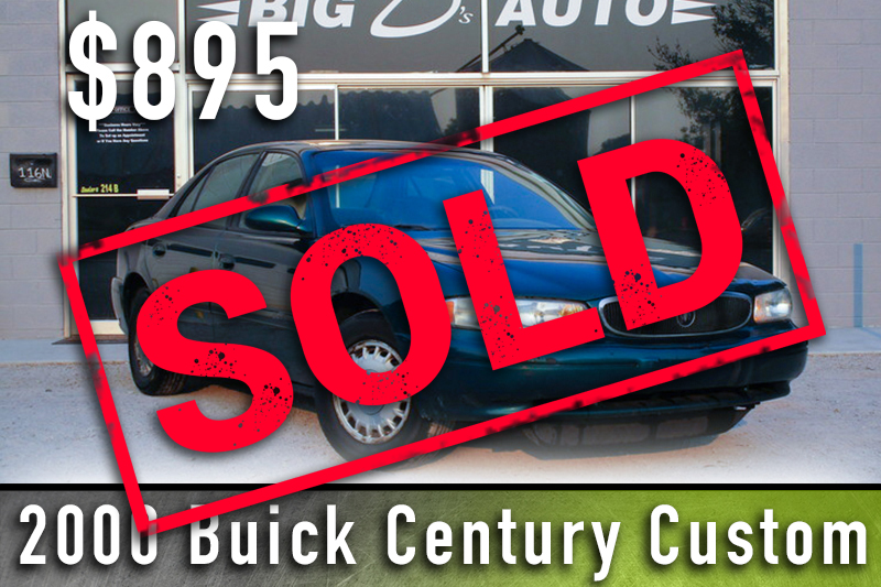 2000 buick sold
