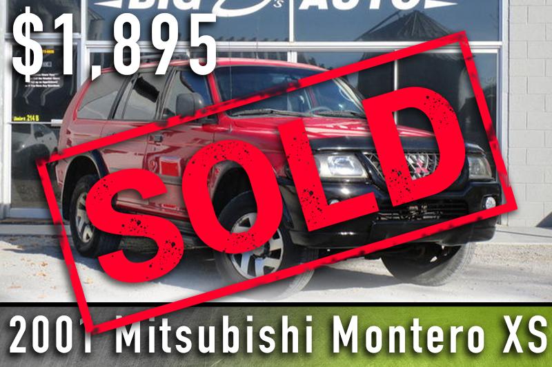 2001 Mitsubishi Montero XS Sold